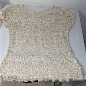 Cream Crochet Shirt